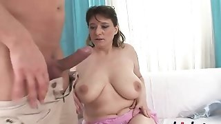 Obese Beata affiliate drilled and gets jizm above her furry mature vag best porn