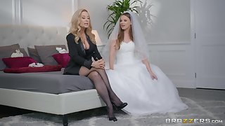 Jillian Janson and Nina Hartley share groom's cock in be imparted to murder lead be imparted to murder wedding