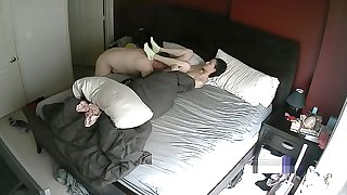 MILF Fucking in Bedroom Hacked Cam