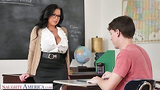 Mega busty teacher Sheridan Love is eager for big dick of sophomore student